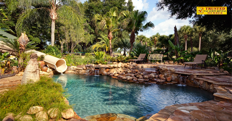 Swimming Pool With Waterfalls At The Ever After Estate