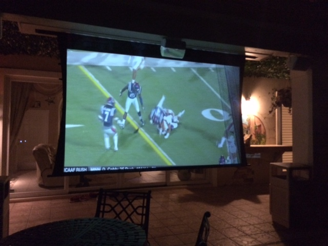 watch our 126 inch giant outdoor movie screen